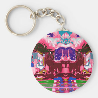 Colorful  Festival Birthday Return+Gifts Giveaway Basic Round Button Key Ring