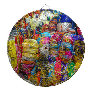 Colorful Fez Hats and Slippers Clothing Dartboard