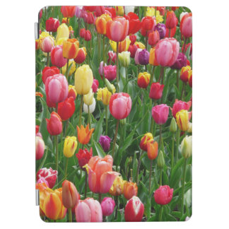Colorful Field Of Tulips Flowers, iPad Smart Cover iPad Air Cover
