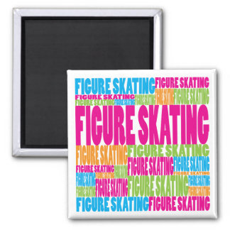 Colorful Figure Skating Square Magnet