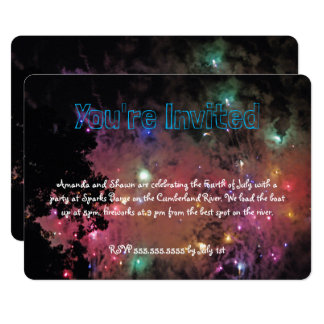 Colorful Fireworks Card