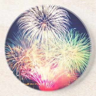 Colorful Fireworks Coaster