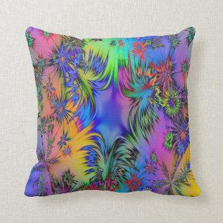 Colorful Fireworks Design Cotton Throw Pillow