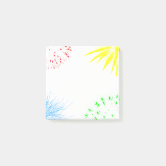 Colorful fireworks funny cheerful post-it notes