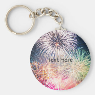 Colorful Fireworks Key Ring