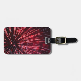 Colorful fireworks of various colors bag tag