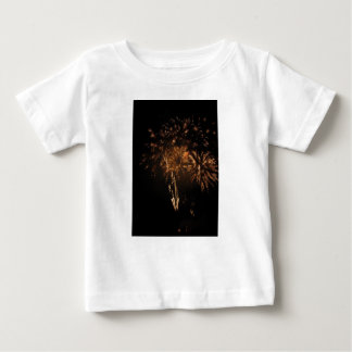 Colorful fireworks of various colors in the night baby T-Shirt