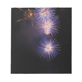Colorful fireworks of various colors memo note pads