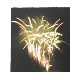 Colorful fireworks of various colors memo pad