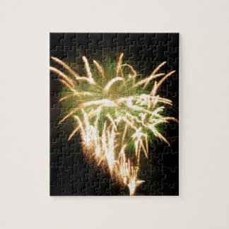 Colorful fireworks of various colors puzzles