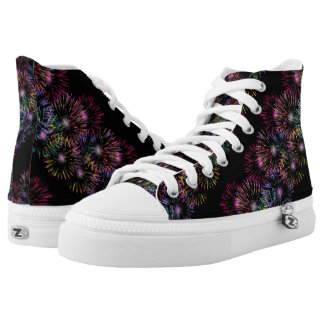Colorful Fireworks Pattern Printed Shoes