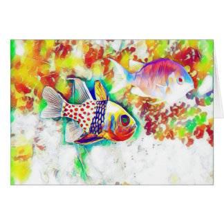 Colorful Fish Notecard