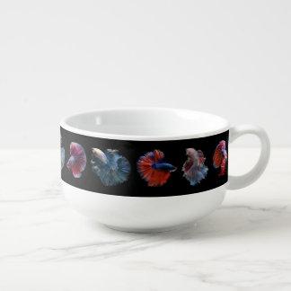 Colorful Fish soup bowl