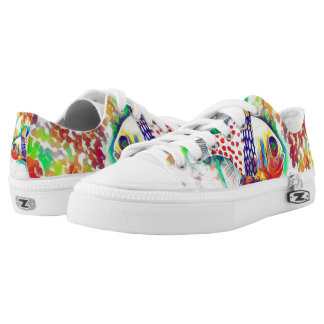 Colorful Fish theme Shoes Printed Shoes