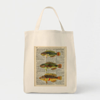 Colorful Fishes Grocery Tote Bag
