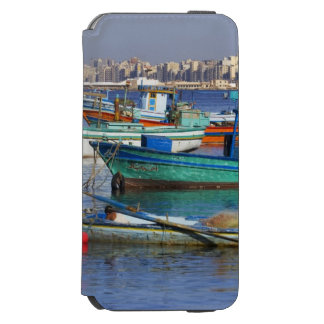 Colorful fishing boats in the Harbor of Incipio Watson™ iPhone 6 Wallet Case