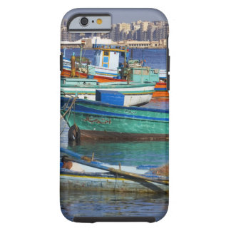 Colorful fishing boats in the Harbor of Tough iPhone 6 Case