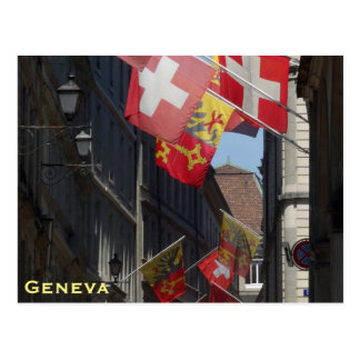 Colorful Flags in Geneva, Switzerland Postcard