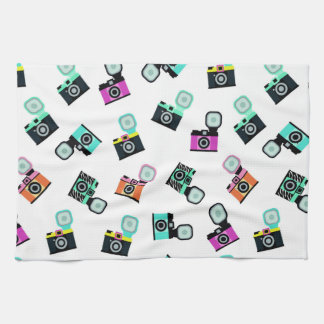 Colorful Flash Camera Drink Placemats Tea Towel