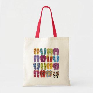 Colorful Flip Flops Vector Set Tote Bag