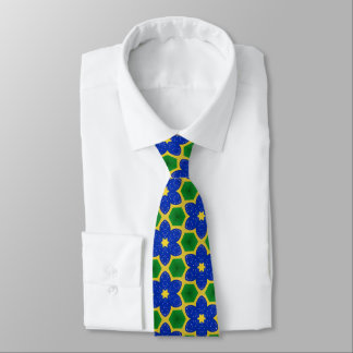 Colorful Floral abstract pattern Tie