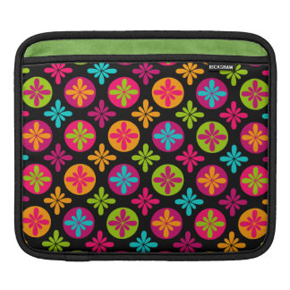 Colorful Floral and Circle Pattern iPad Sleeves
