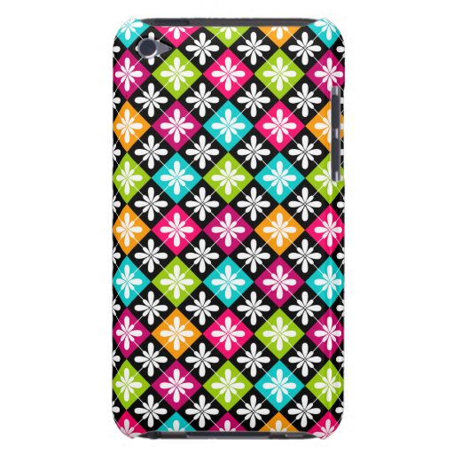 Colorful Floral Argyle Pattern Design iPod Touch Covers
