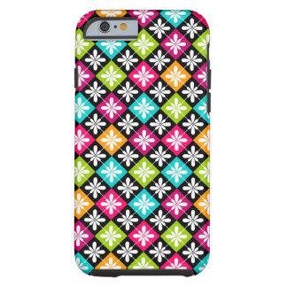 Colorful Floral Argyle Pattern Tough iPhone 6 Case