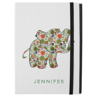 "Colorful Floral Baby Elephant iPad Pro 12.9"" Case"