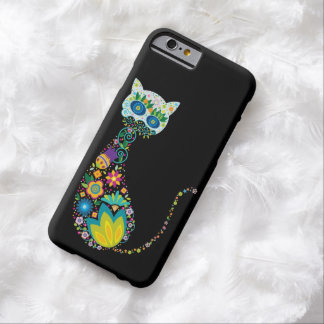 Colorful Floral Cat Barely There iPhone 6 Case