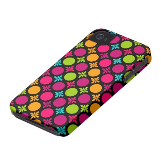 Colorful Floral Circle Design Blackberry Bold Case iPhone 4 Case