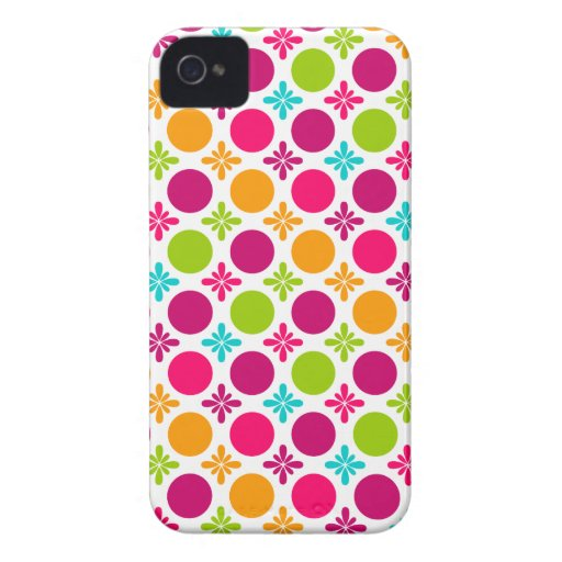 Colorful Floral Circle Design Blackberry Bold Case