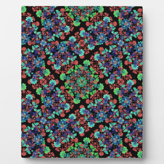 Colorful Floral Collage Pattern Plaque