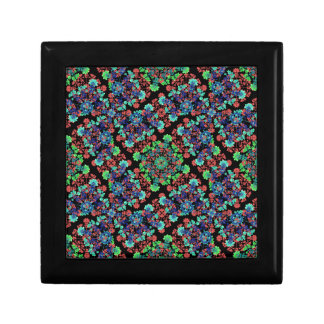 Colorful Floral Collage Pattern Small Square Gift Box