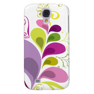 Colorful Floral Deco Leaves Nature Art Deco Chic Samsung Galaxy S4 Covers