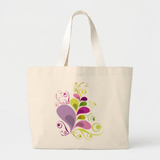 Colorful Floral Deco Leaves Nature Art Deco Chic Tote Bag