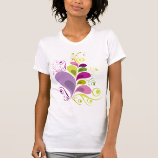 Colorful Floral Deco Leaves Nature Art Deco Chic Shirts