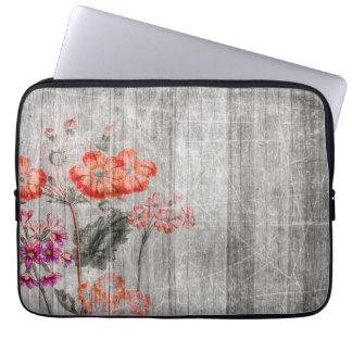 Colorful Floral Design Laptop Sleeve