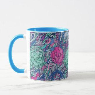 Colorful Floral Doodle Pattern Mug