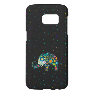 Colorful Floral Elephant & Colorful Dots Pattern