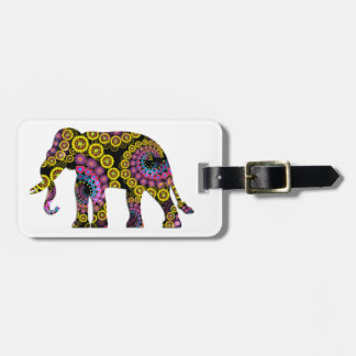 Colorful Floral Elephant | Luggage Tag