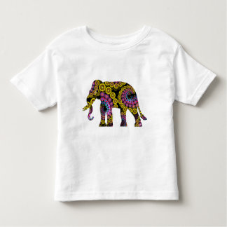 Colorful Floral Elephant | Toddler T-Shirt
