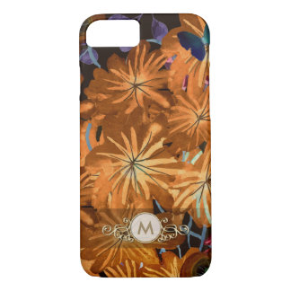 Colorful Floral Fancy Monogram Case for Her