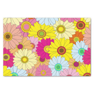 Colorful Floral Flower Pattern Tissue Paper