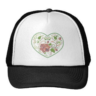 Colorful Floral Heart 2 Cap