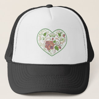 Colorful Floral Heart 2 Trucker Hat