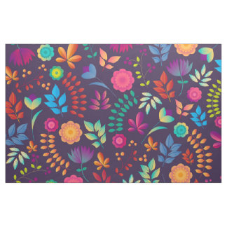 Colorful floral illustration fabric