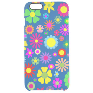 Colorful floral pattern clear iPhone 6 plus case