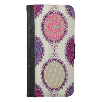 Colorful floral Pattern iPhone 6/6s Plus Wallet Case