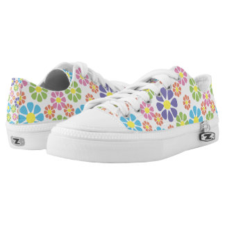 Colorful floral pattern low tops